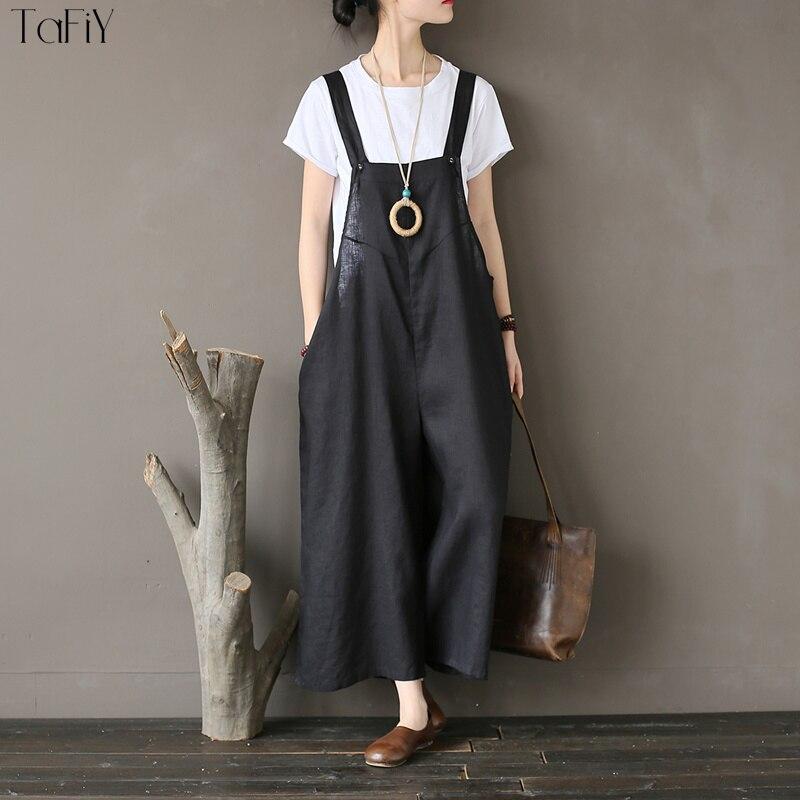 Solide Pantalon Femmes Black Linge Salopette De Longue 2018 grey Tafiy Femme Vintage Occasionnel Femelle Lâche Large Jambe IqwfgES