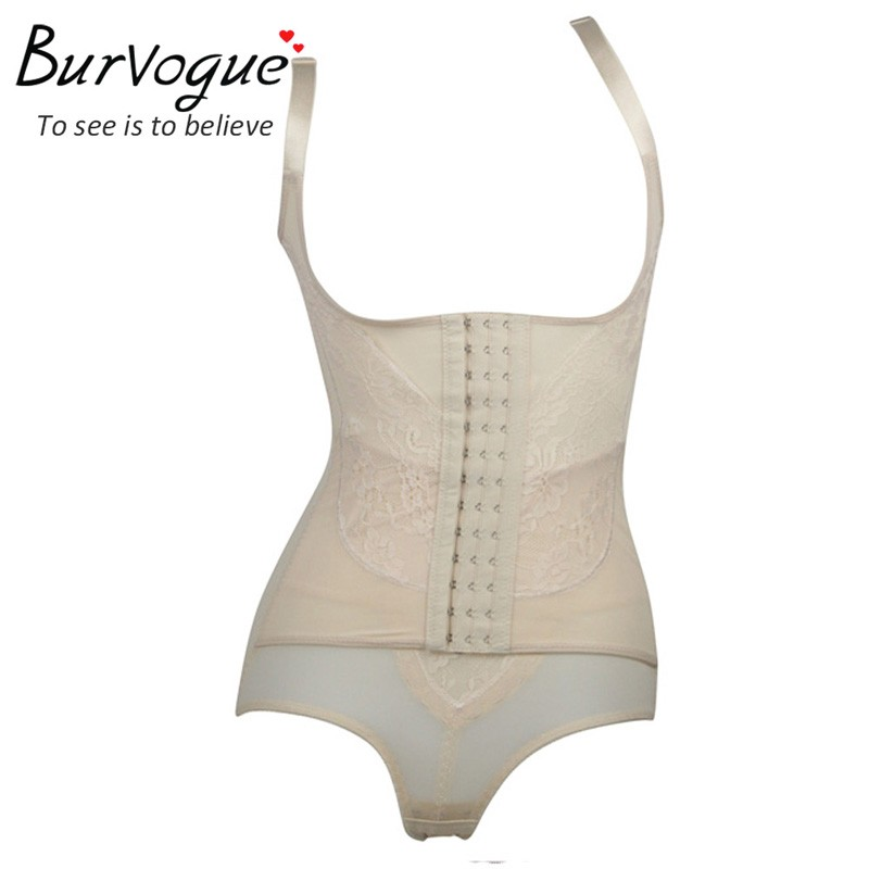 df7968f28d Burvogue butt lift shapers firm body control waist shaper underbust  bodysuit front eyelet full slip slimming underwear plus size-in Bodysuits  from Underwear ...