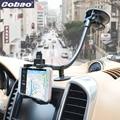 Brazo largo cuello escritorio stent teléfono móvil sostenedor del parabrisas del coche para el iphone 7 samsung galaxy s6 ipad mini 7 8 pulgadas tablet pad trípode