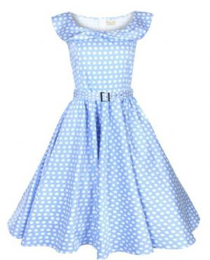 free shipping China supplier Halter Polka Dot 50s Rockabilly Pinup Party Swing Prom Evening DressBestdress