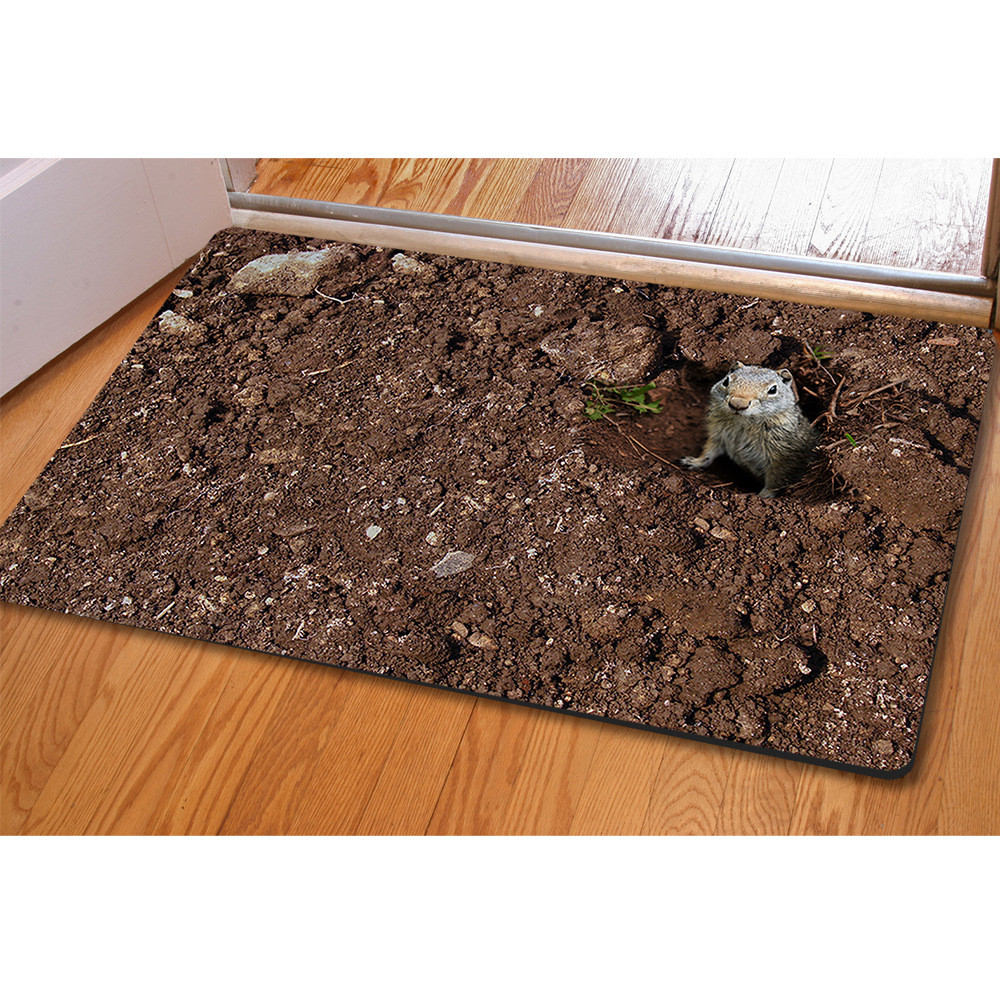Pastoral Style Doormat 3d Creative Home Carpets Non Slip Kitchen  -> Tapete Sala Home