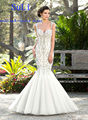 SA37 Fall Winter Mermaid Beading Backless Long Bridal Gowns Tulle Crystals Cheap Sexy Vintage Wedding Dresses