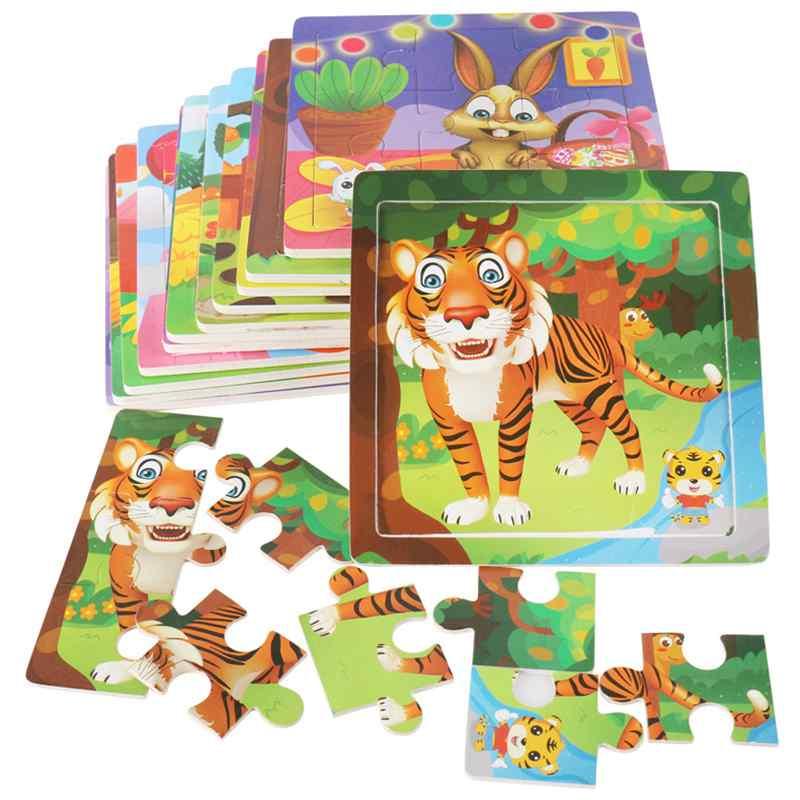 12 piezas de madera 3D Animal Puzzle signos del zodiaco chino - Juegos y rompecabezas - foto 2