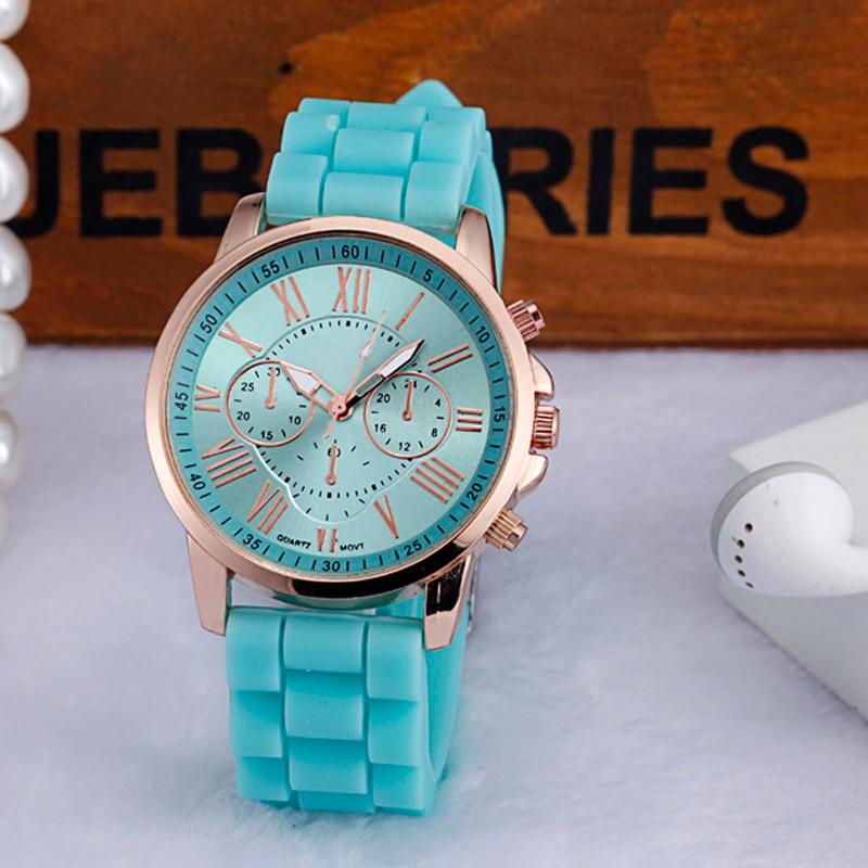 Women Watch Superior 2017 Women Roman Numerals Silicone Jelly Gel Quartz Analog Wrist Watch relogio feminino Drop გადაზიდვა