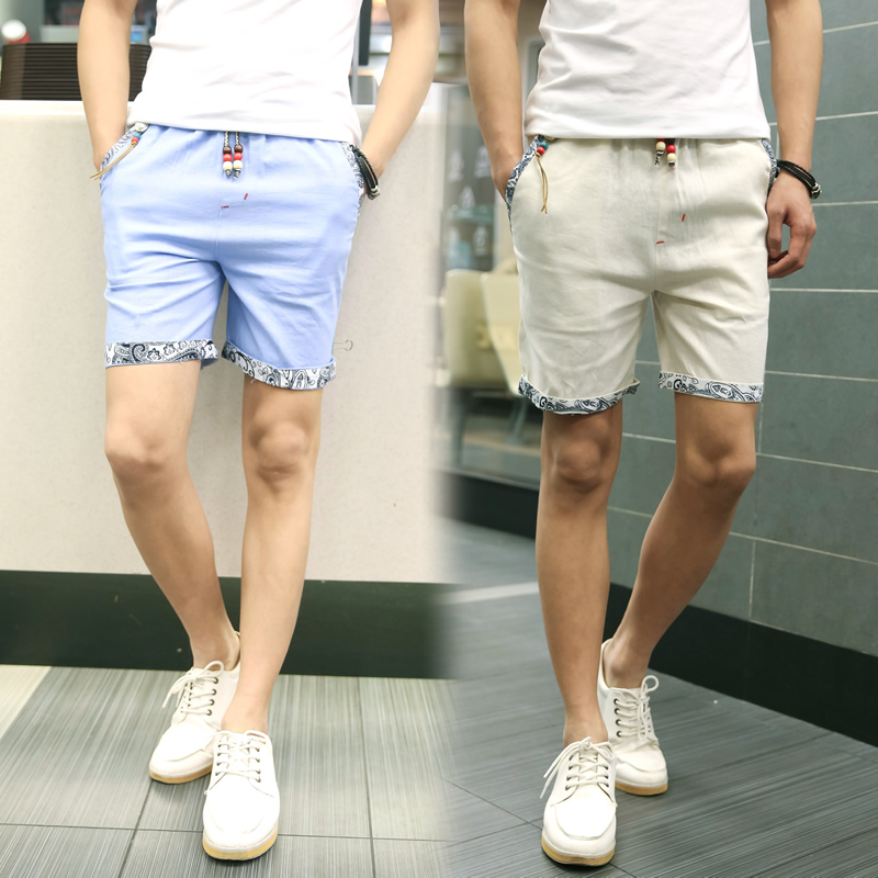 f0a3880e60 US $11.98 |New Summer Style Men Linen Shorts Men Casual Slim Fit Straight  Boardshorts Beach Brand Shorts Mens Shorts DK12-in Casual Shorts from Men's  ...