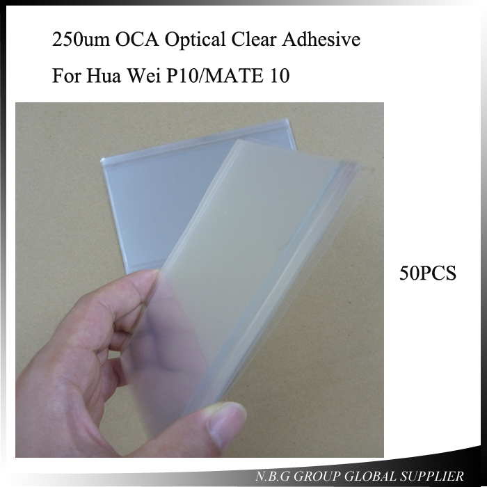 Hearty 50pcs/lot 250um Oca Optical Clear Adhesive For Hua Wei P10/mate 10 Glue Touch Glass Lens Repair Part Mobile Phone Stickers Mobile Phone Accessories