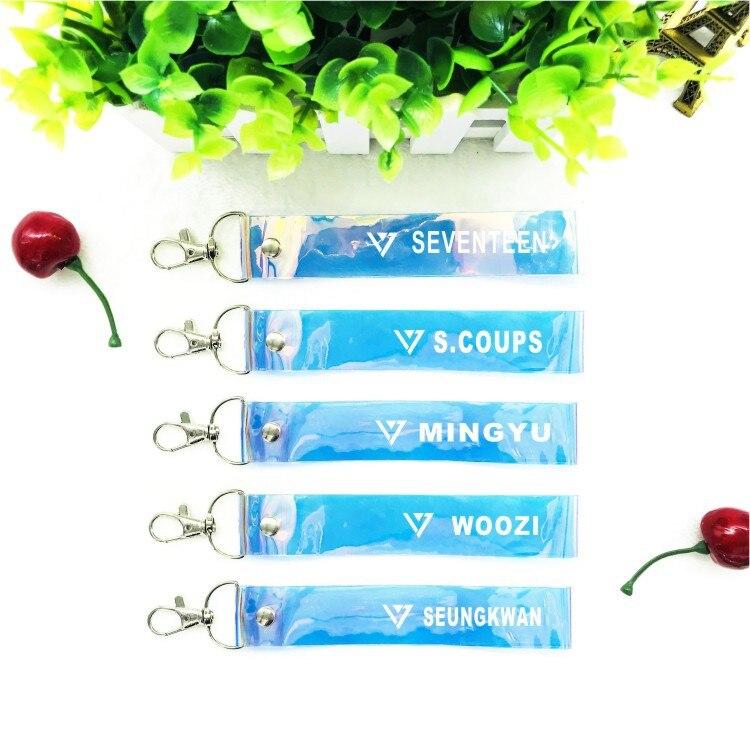 mykpop seventeen Laser Landyard Kpop Accessory To Bag Mobile Keyring Vixx Fans Collection Sa18071606 Durable Modeling Hard-Working