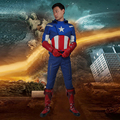 2016 The Avengers 1 Capitán América Cosplay The Avengers 1 Steve Rogers Adultos Superhero Disfraces de Halloween Hombres Traje