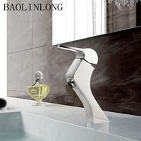 BAOLINLONG Brass Chrome Basin Faucet Bathroom Tap Vanity Vessel Sinks Deck Mount Bath Mixer Faucets