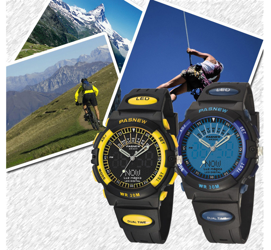 2018 Free Shipping Fashion Men Watch Waterproof Sport Men Wristwatch S Quartz Digital Boy Clock Relogio Masculino (9)