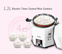 1.2L Rice Cookers Mini Intelligent Rice Cooker Electric Rice Steamer with Timer Control CFXB12 200B