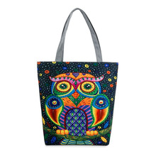 Shopper Bag Canvas Owl Women Top-handle Bags Bolsos High Quality  Valise Women's Hand Bags Designer Brand O Bag Bolsas Feminina