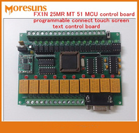 Fast Free Ship PLC Industrial Control Board FX1N 25MR MT 51 MCU Programmable Connect Touch Screen