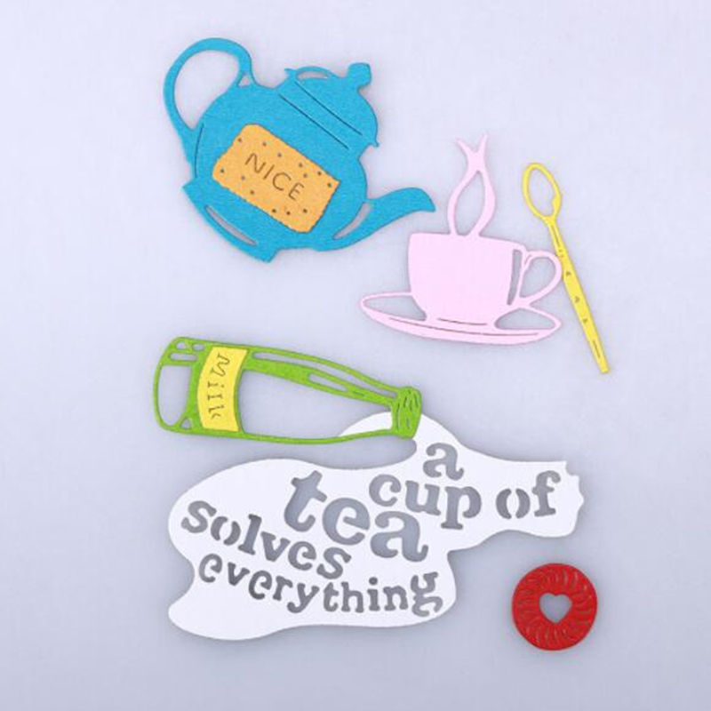 SCD588 Coffee Cups Metal Cutting Dies For Scrapbooking Stencils DIY Album Cards Decoration Embossing Folder Die Cuts Template in Cutting Dies from Home Garden