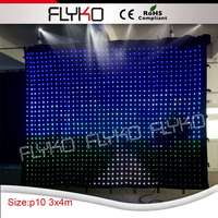 Chinese sexy video Free shipping FLYKO P10 3*4m LED video curtain ,DMX curtain with controller, Led Curtains for sale