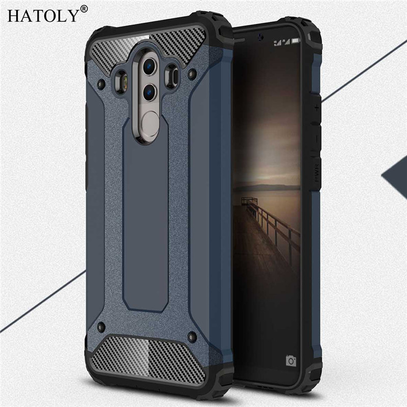 Чехол HATOLY для Huawei Mate 10 Pro, сверхпрочный защитный тонкий жесткий резиновый чехол, силиконовый чехол для телефона Huawei Mate 10 Pro, 6 дюймов