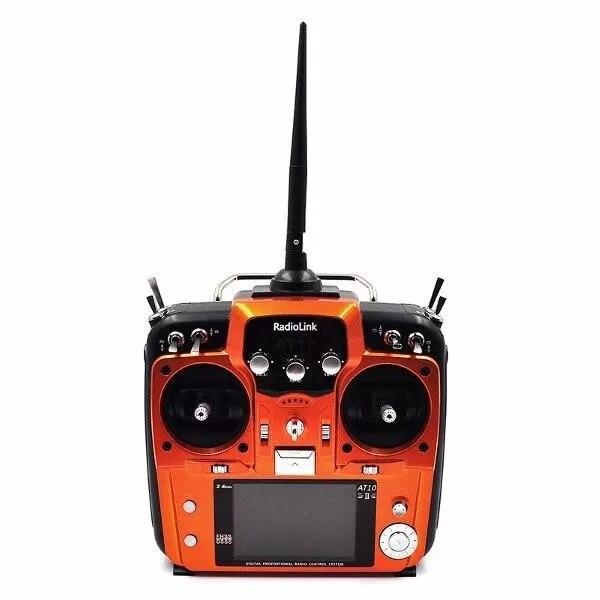 Oryginalny RadioLink AT10II AT10 II 2.4 Ghz 12CH pilot zdalnego sterowania zdalnego nadajnik z R12DS odbiornik RC zrobić Quadcopter w Części i akcesoria od Zabawki i hobby na  Grupa 1
