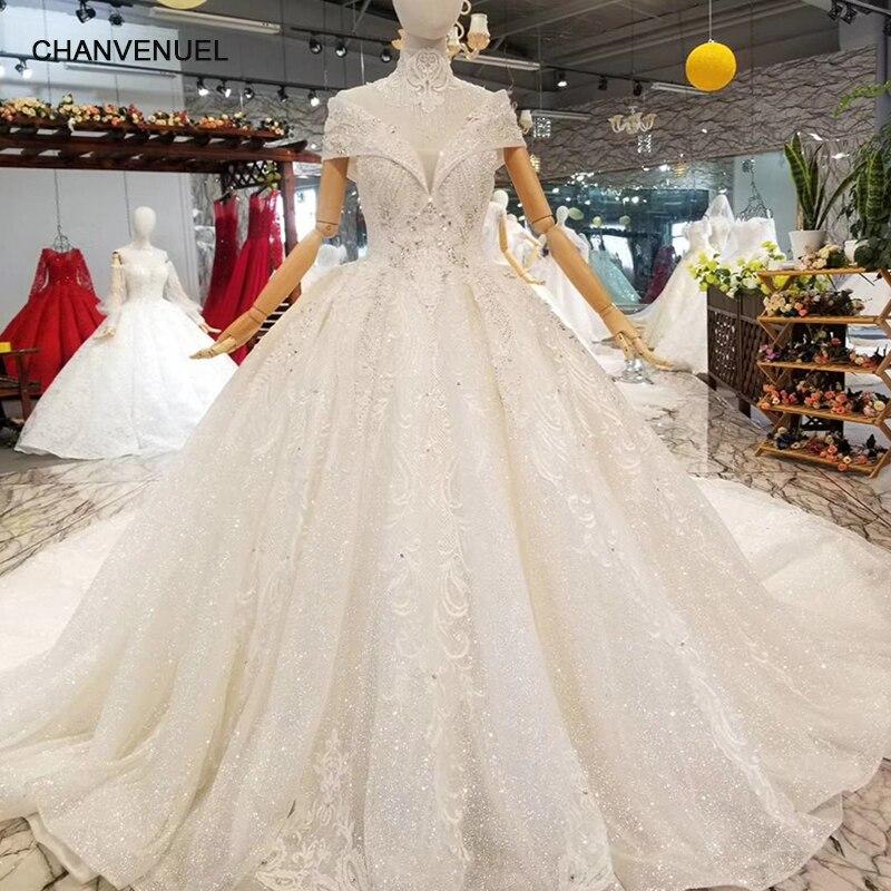 ls335100 collar de cadena decorar blanco vestido de boda con alta