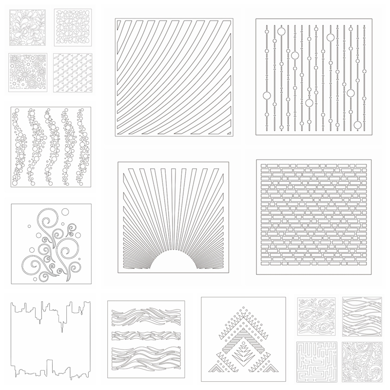 Aliexpress.com : Buy Different Mold Draw Stencil For DIY
