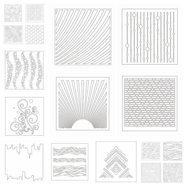 Diffe Mold Draw Stencil For Diy Sbooking Decorative Embossing Paper Cards Crafts Plastic Templates Drawing