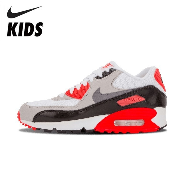 Nike Air Max 90 Prem Mesh (GS) Original New Arrival Kids Running Shoes Comfortable Children Outdoor Sports Sneakers #724882-100