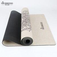 Natural Jute Doormat Eco Mandala Cushion Non Slip Mandala Bathroom Carpet 4 5 Mm Thick NICEGOOD