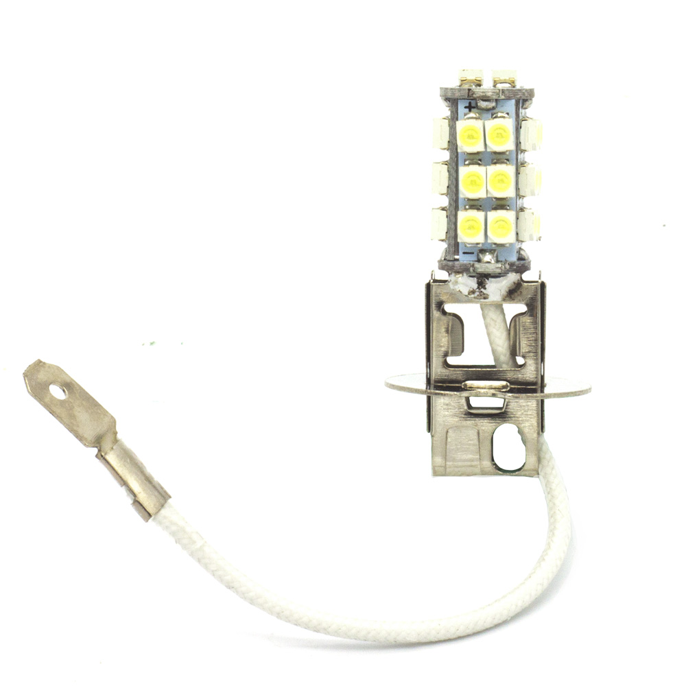 2pcs H3 PK22S 26LED 3528 SMD LED White Lights Dc 12v Car Fog Daytime Running Light Lamp bulb 3156 12w 600lm osram 4 smd 7060 led white light car bulb dc 12v