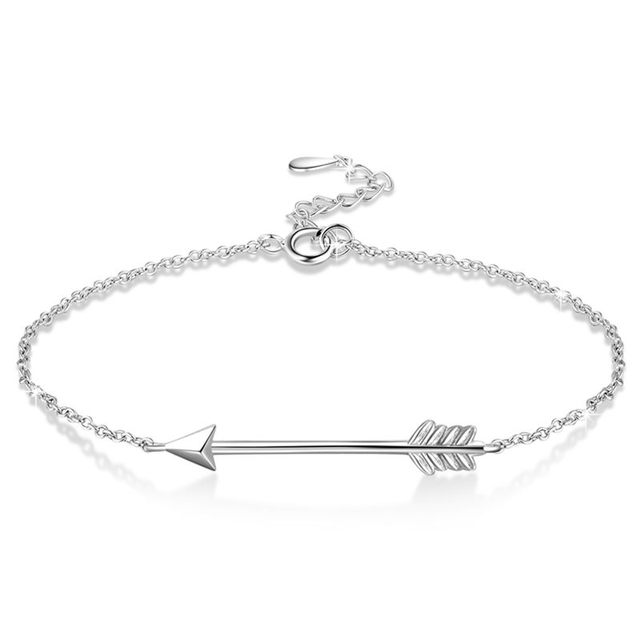 in bangle adjustable gothic women arrow open from pulseiras womens ladies item silver bracelets punk jewelry bracelet bangles cuff