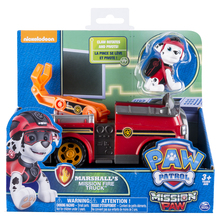 Original Nickelodeon Paw Patrol Marshall's Mission Fire Truck Spin Master Mission Paw Vehicle Toy Anime Action Figure Toys Gift spin master nickelodeon paw patrol машина трансформер маршал со звуком 16704