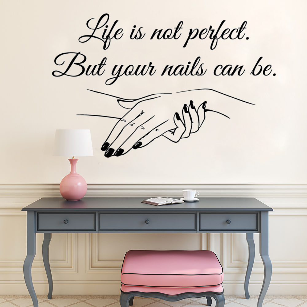 YOYOYU Nail Salon Removeable Art Vinyl Wall Sticker Manicure Quote Salon Bedroom Window Home Decoration Art Poster ZX499