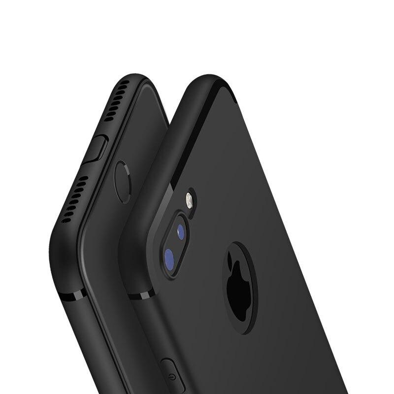 De lujo volver mate case de silicona suave para el iphone 6 casos 6 s plus 5 5S
