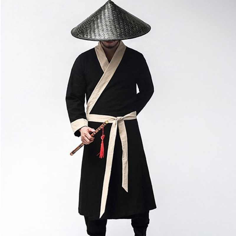 Традиционный китайский костюмы для мужчин мужской пальто Верхняя одежда oriental зима Тренч Одежда Тренч 2018 TA321