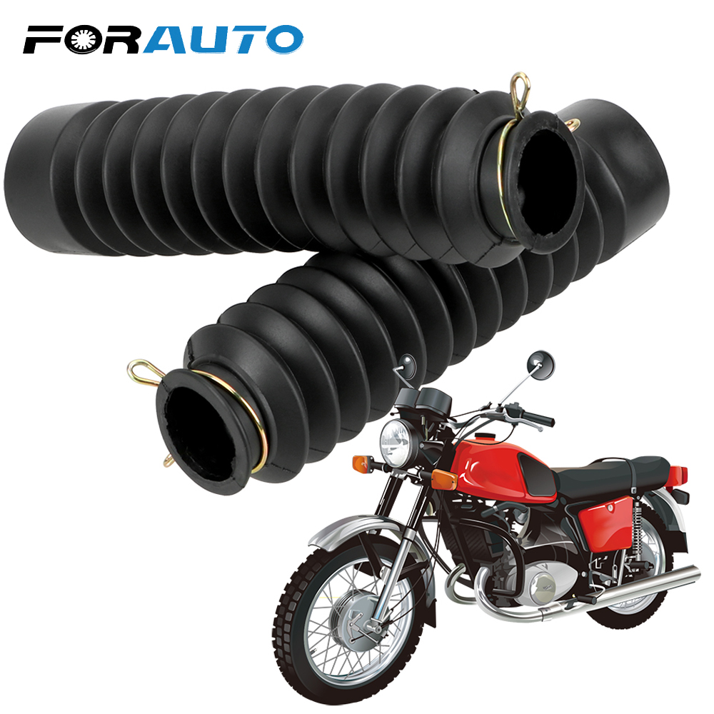 2Pcs Motorcycle Front Fork Shock Absorber Dust Cover Universal Dust Proof Sleeve Protector Damping Rubber Gaiters Gators Boots-in Falling Protection from Automobiles & Motorcycles
