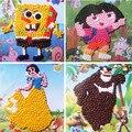 Artesanal criativa diy pintura captador de papel amassado das crianças brinquedos educativos para a primeira infância adesivos mosaico