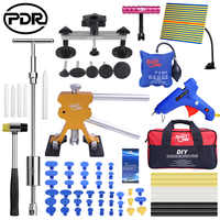 PDR Car Dent Repair Tools Kit Hail Removing Dents Tool Set Dent Puller Tool Bag Line Lamp инструмент для ремонта авто