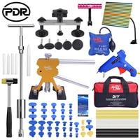 PDR Car Dent Repair Tools Kit Hail Removing Dents Tool Set Dent Puller Tool Bag Line Lamp Glue Sticker Debosselage Sans Peinture