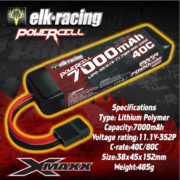 Batteries ELK Lipo 7000 mAh 9000 mAh 3 S/11.1 V 40C utilisées pour Traxxas 1/5 2.4G TSM x-maxx RTR