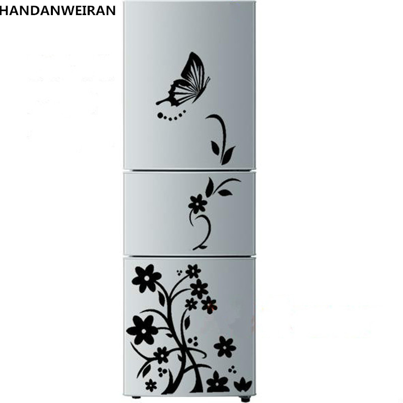 Superior quality. The new creative refrigerator stickers fashion butterfly on the flowers