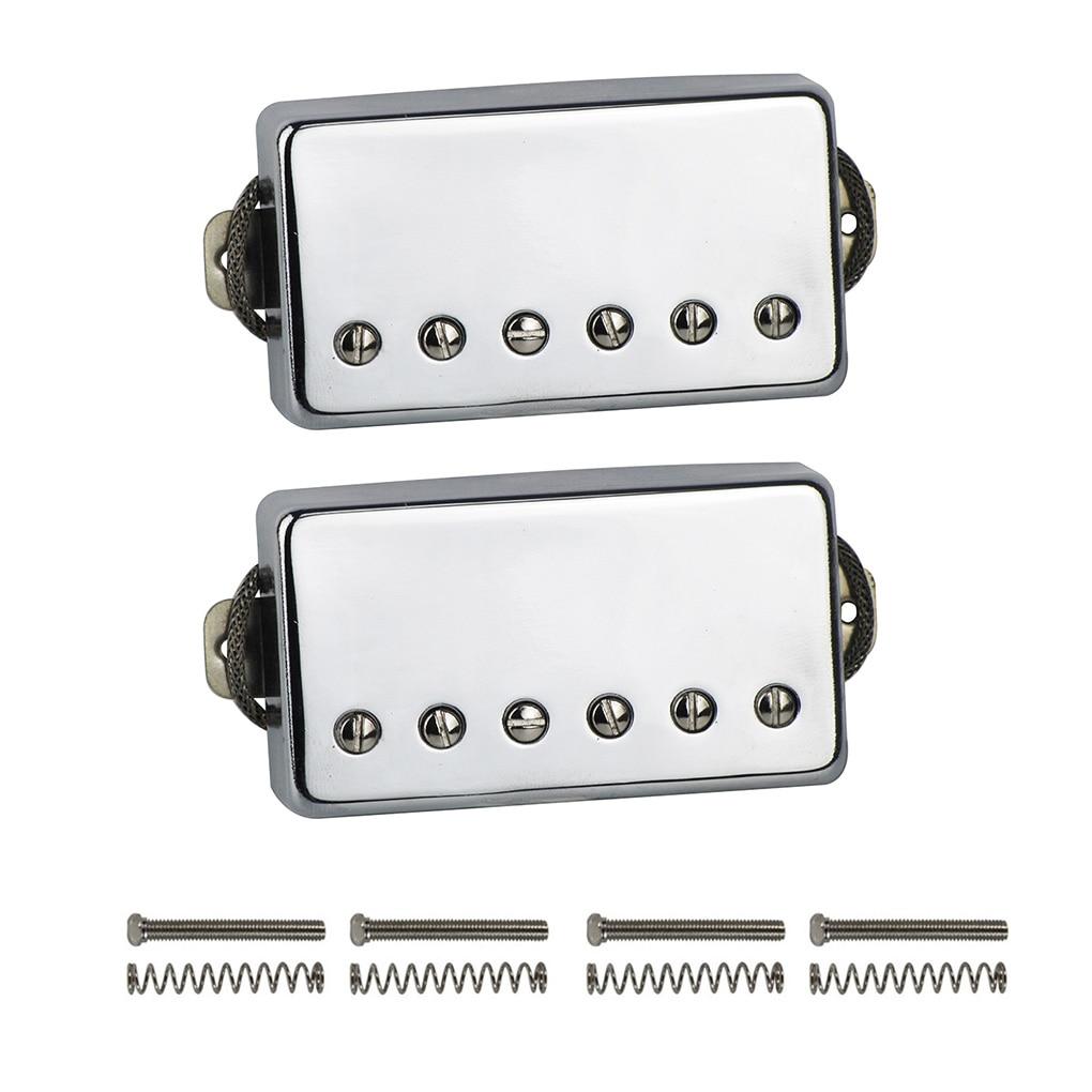 NEW Alnico 5 / V Humbucker Electric Guitar Pickup Chrome Neck or Bridge Pickup Choose For LP Style GuitarGuitar Parts & Accessories   -