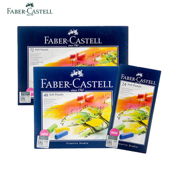 Faber Castell Soft Pastels Mini Cardboard Box Of 24/48/72 Art Drawing For Student Color Crayon Brush Stationery Supplies
