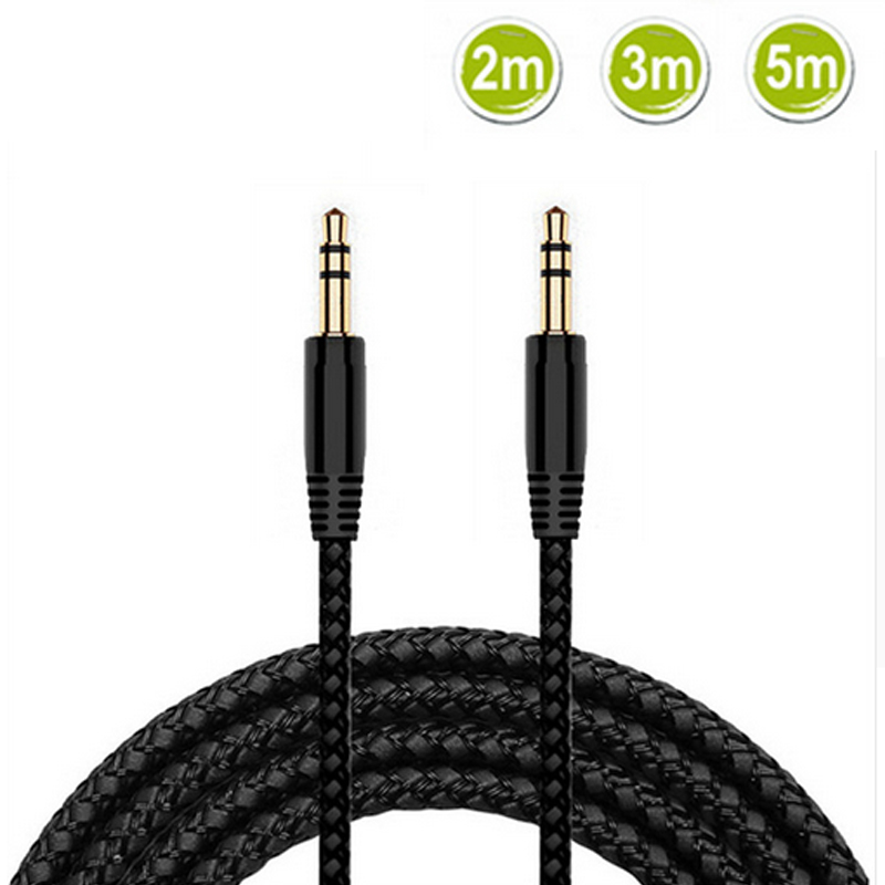 New 2m <font><b>3m</b></font> 5m 3.5mm Aux Cable Male to 3.5mm <font><b>Jack</b></font> Male AUX Audio Stereo Headphone Cable <font><b>3.5</b></font> mm Aux Audio Phone Earphone Cable Cord image