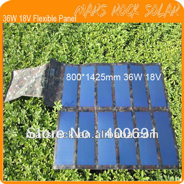 36W 18V Folding Military Version and Buckle Whole Design Flexible Solar Panel Charger for Laptop, Mobiles, Notebook, MP3, MP4