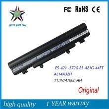 11.1 v 4700 mah qualidade original nova bateria do portátil para acer e5 e5-471 e5-421g-44ft al14a32