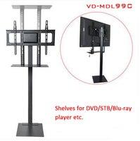 32-70 inch LCD LED Plasma Màn Hình TV Gắn Sàn Đứng Nghiêng Xoay AD Dây Màn Hình Quản Lý Chiều Cao Ajustable MDL99C