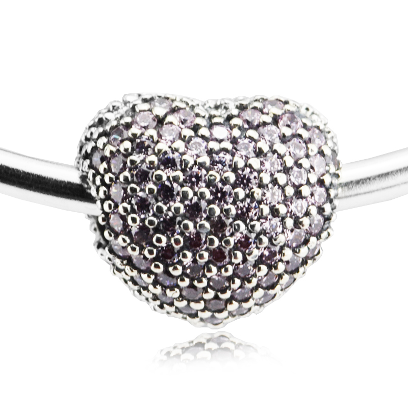 5efc00692 Online Shop Pave Open My Heart Clip Charms Fits for Pandora Bracelets with  Pink Cubic Zirconia Authentic 925 Sterling Silver Jewelry   Aliexpress  Mobile