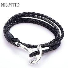Niuyitid braclet якорь манжеты шарм искусственная человек браслет изделия ручной ювелирные
