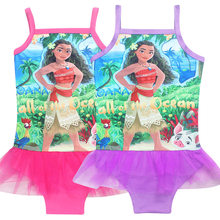 e3d84f6207 Summer children's swimsuit Baby Swimwear Children Bathing Suit Kids Moana  Cartoon dress Girl's beautiful swimsuit Girl's dress