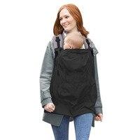 Baby Carrier Cloak Mantle Cover Waterproof Baby Backpack Carrier Cover Baby Rainproof Cloak Windproof Suspender