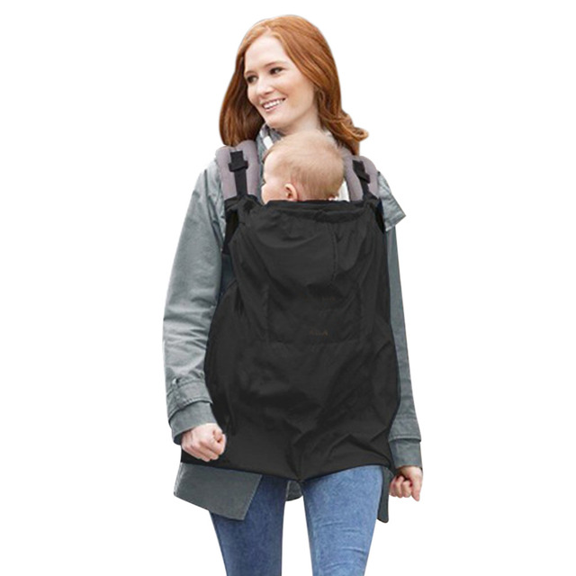 baby carrier cloak mantle cover waterproof baby backpack carrier cover baby rainproof cloak windproof suspender - Carrier Cover
