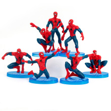 7pcs/set Avengers Super Hero Spider man PVC Action Figures toys SpiderMan figure Toys Spider-Man car Decoration toys kid gift